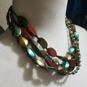 BUNDLE ONLY colorful layered beaded necklace